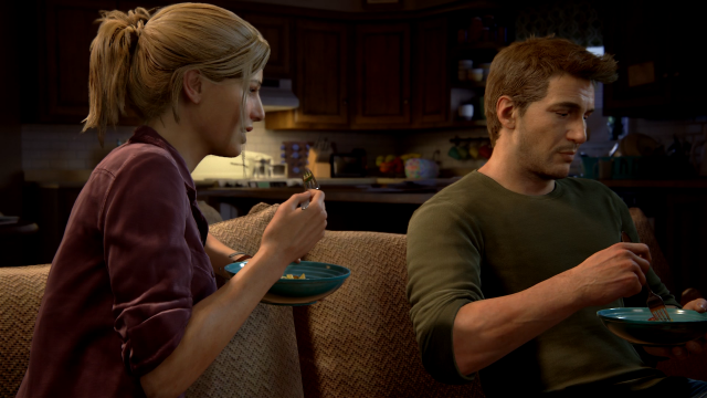 Uncharted 4 - Eating Dinner