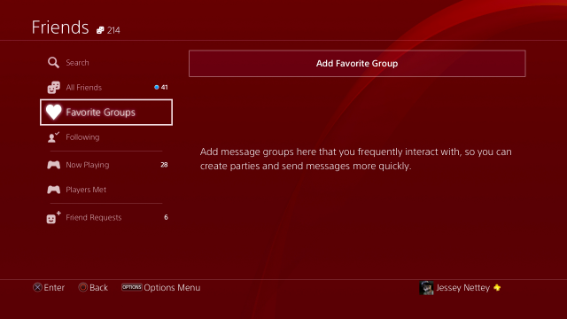 ps4-favorite-groups